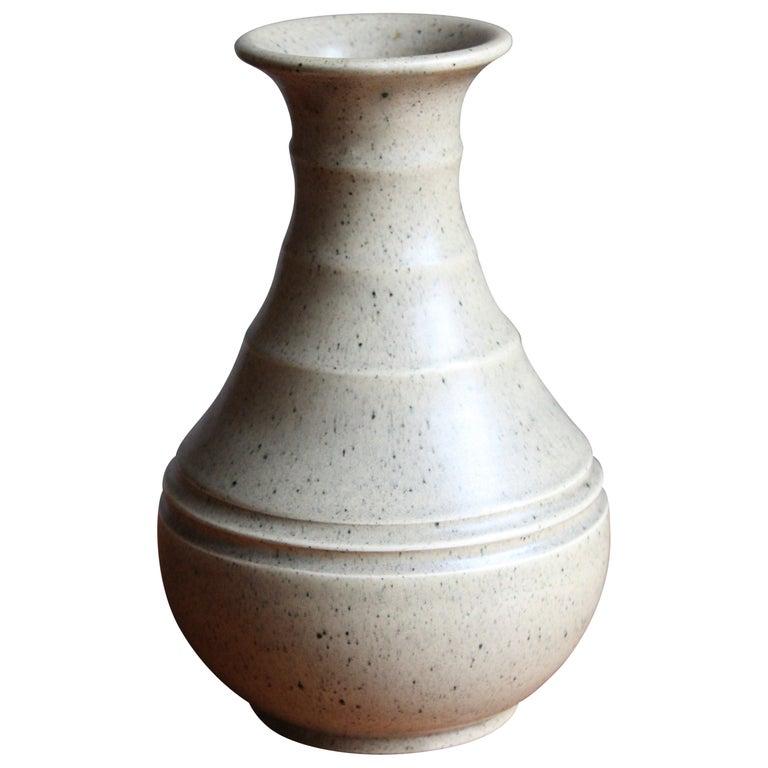 Eva Jancke Björk, Vase, Glazed Stoneware, for Bo Fajans, Sweden, 1930s For Sale