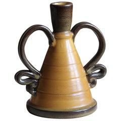 Eva Jancke Björk, Vase, Glazed Stoneware, for Bo Fajans, Sweden, 1940s