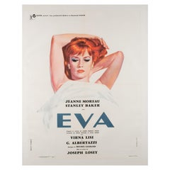 """Eva"" Original French Film Poster, 1962, Linen Backed"