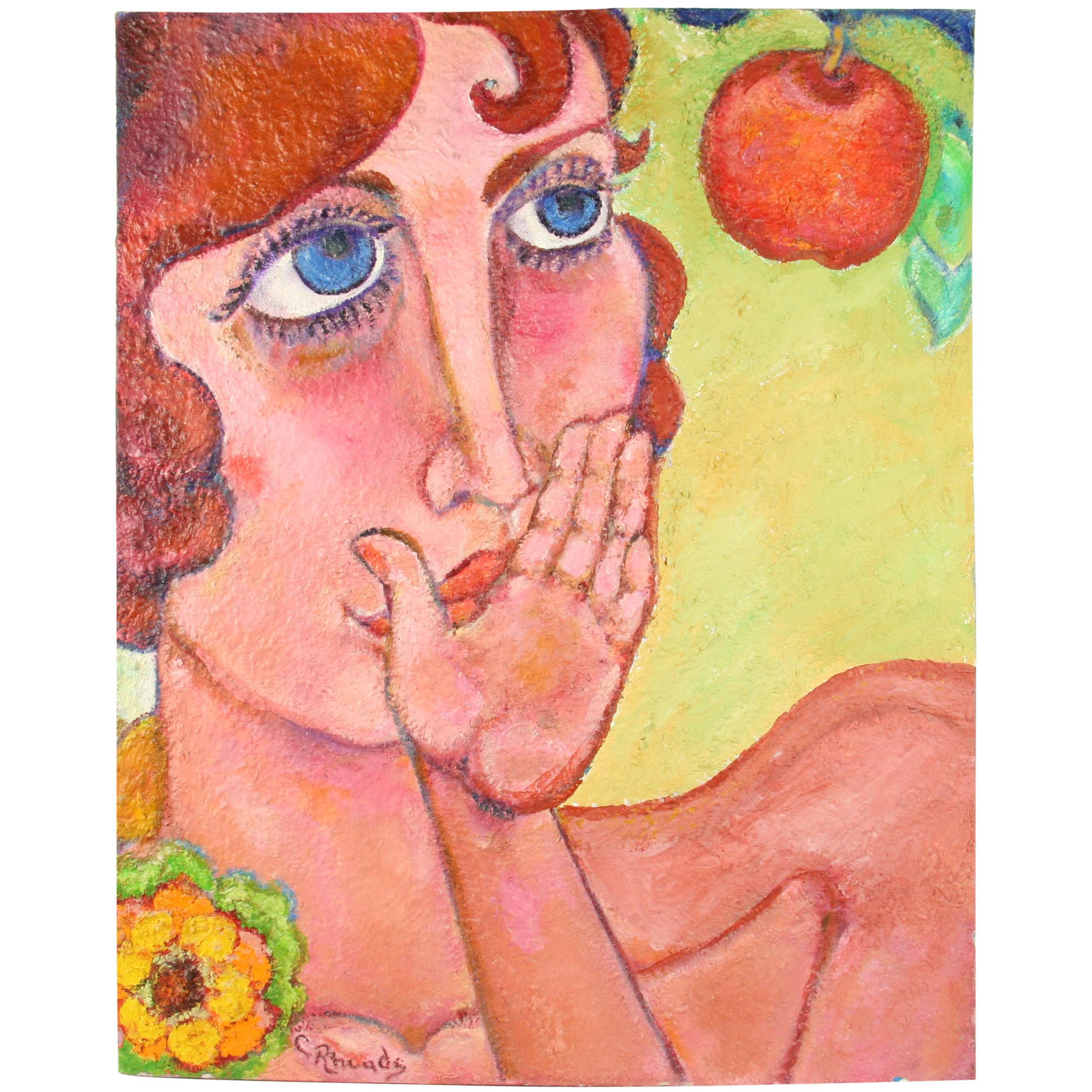 Eva Pop Art Female Painting