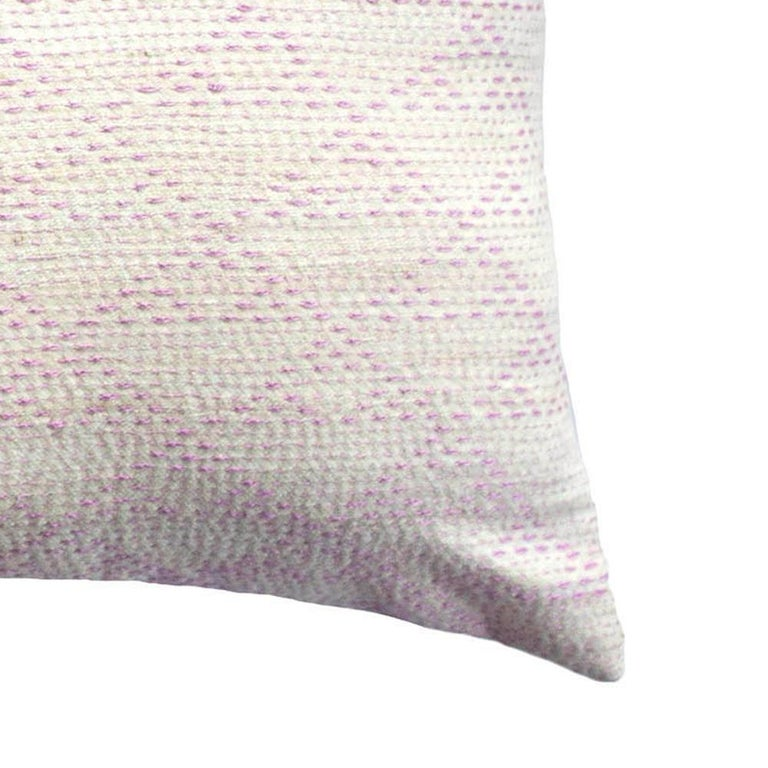 Eva Rust & Pink Hand Embroidered Modern Geometric Throw Pillow Cover In New Condition For Sale In Westfield, NJ