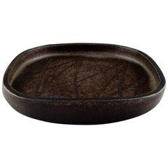 Eva Stæhr-nielsen for Saxbo, Large Dish of Stoneware in Modern Design