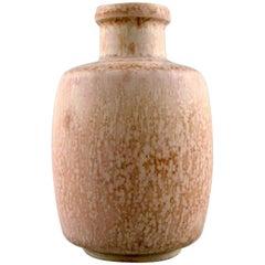 Eva Stæhr-Nielsen for Saxbo Stoneware Vase in Modern Design, Eggshell Glaze