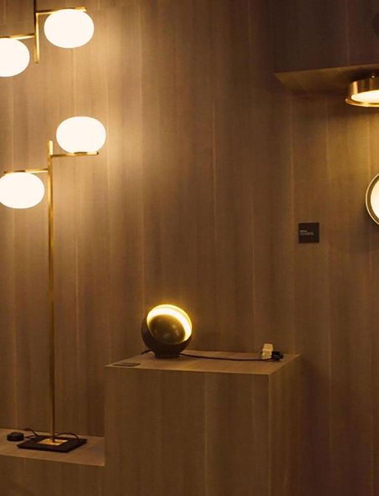 Metal Eva Table Lamp by Francesca Borelli for Oluce For Sale