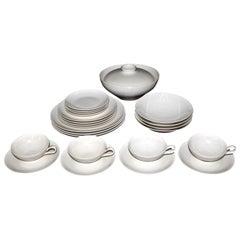 "Eva Zeisel Castleton China Porcelain ""Museum Dinner Service"" Four Place Settings"