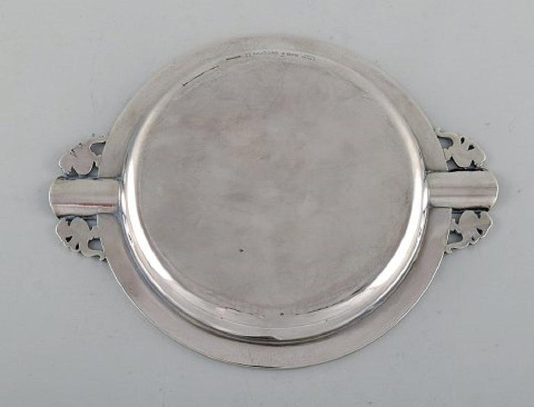 Mid-20th Century Evald Nielsen, Denmark, Art Deco Cigar Ashtray in Sterling Silver For Sale