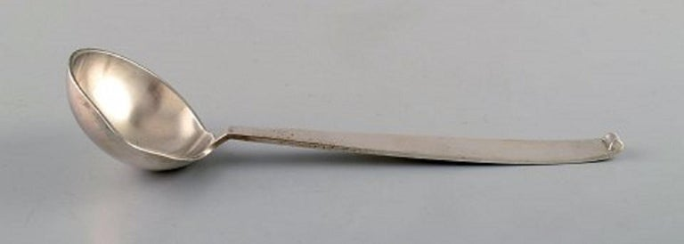 Evald Nielsen no. 29. Sauce spoon in full silver, 1930s.
