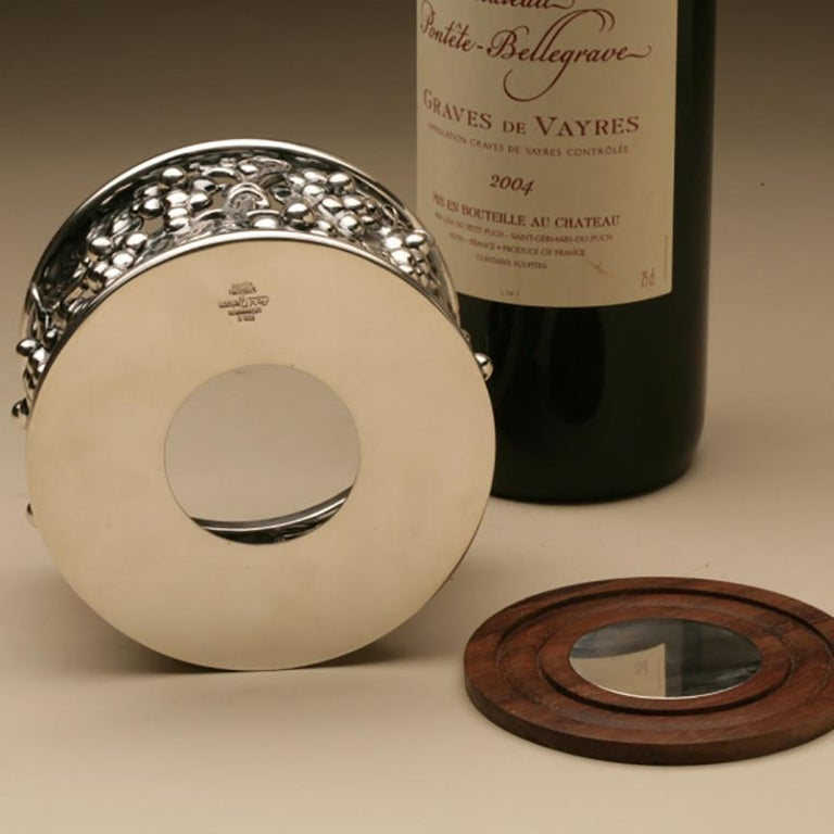Evald Nielsen Sterling Silver Wine Coaster In New Condition For Sale In San Francisco, CA