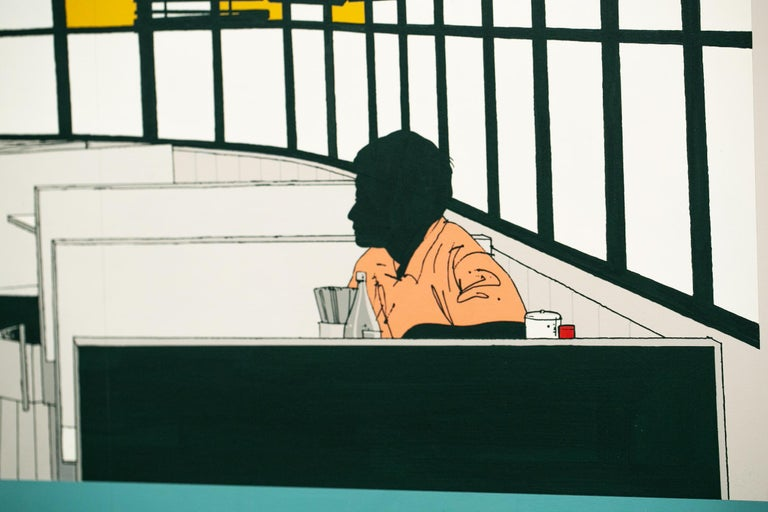 Mido Cafe - Painting by Evan Hecox
