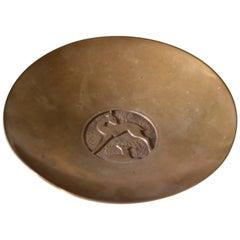 Evan Jensen Køpenhavn Scandinavian Bronze Bowl Denmark, 1930s, Art Deco