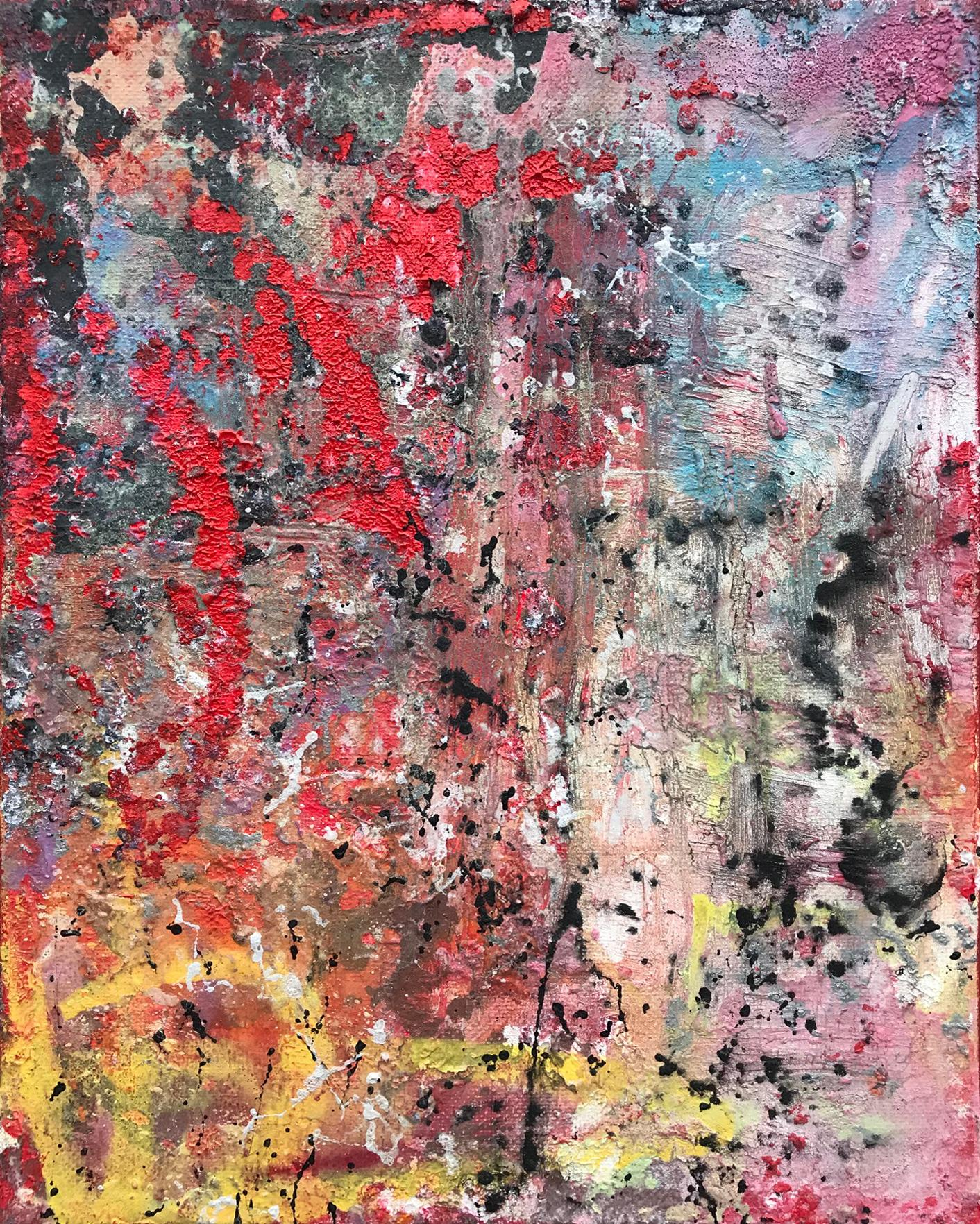 Burning Desire, 2019, Abstract Acrylic, Oil Resin & Spray Paint, Canvas, Signed