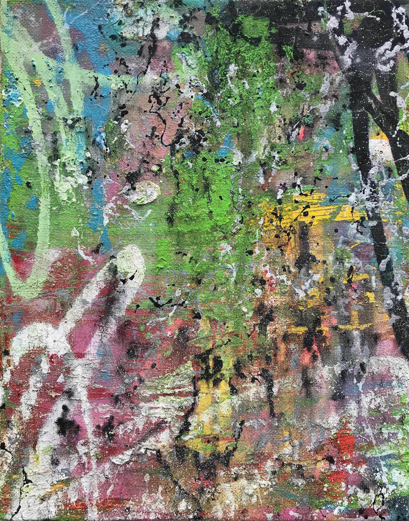 Cloak_Dagger, Abstract Acrylic, Oil Resin & Spray Paint, Canvas, Signed on Verso