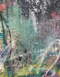 When Push Comes To Shove, Acrylic, Oil Resin, Spray Paint, Canvas, Signed