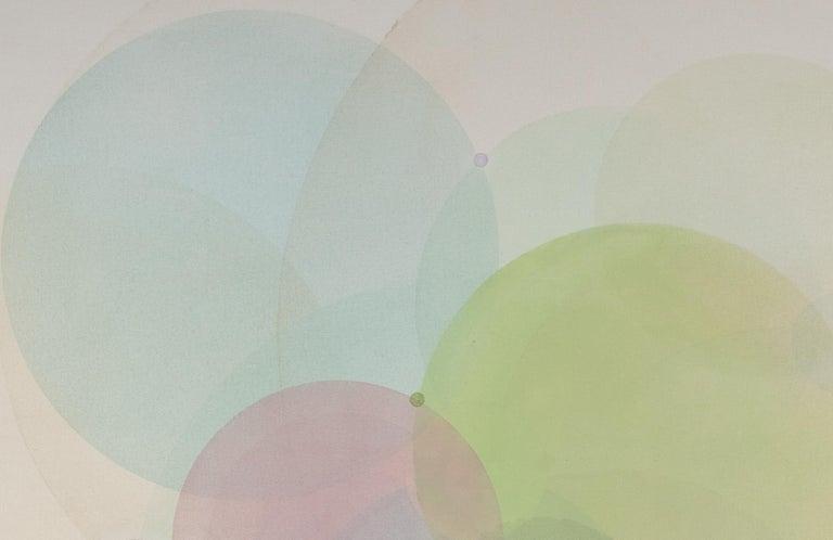 Day Map N2619 - Beige Abstract Painting by Evan Venegas