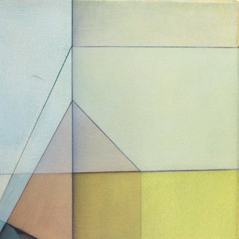 Evan Venegas' abstract geometric paintings seek to inspire a change in the viewer's consciousness. The shapes in Evan's work are individual pieces of a puzzle, laid out for the viewer's imagination to create and assemble an experience that is unique