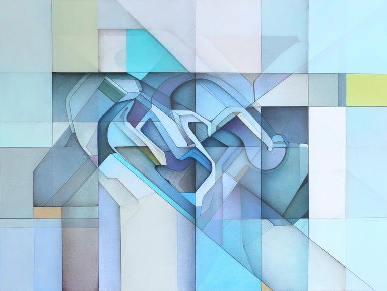 Evan Venegas Abstract Painting - Lost Grid 71919