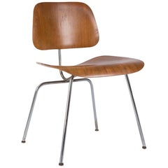Evans Calico Ash Eames DCM Moulded Plywood Dining Chair