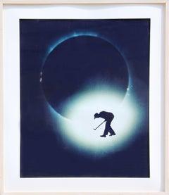"""""""Golf on Solar Eclipse"""" Polaroid Photograph, 1989"""
