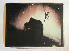 Vintage 20X24 Large Format Polaroid Signed Surrealist Image