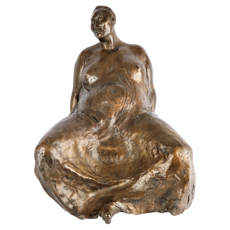 """Evelia Seated"" Bronze Sculpture by Francisco Zuniga, 1980"