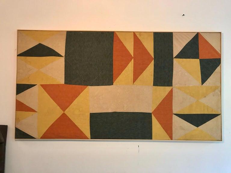 Mid-Century Modern Evelyn Ackerman Hard-Edge Textile Art Tapestry  For Sale