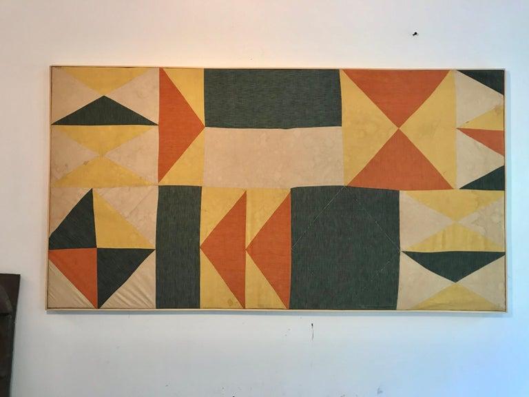 American Evelyn Ackerman Hard-Edge Textile Art Tapestry  For Sale
