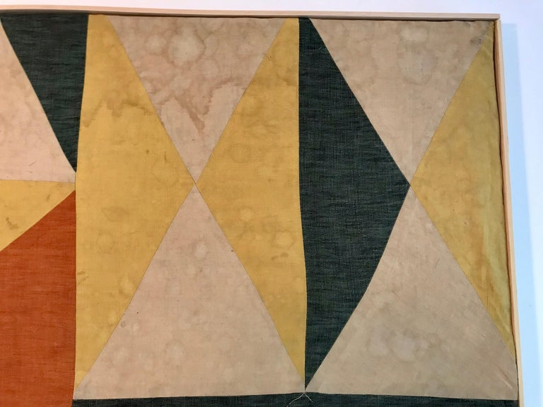 Hand-Crafted Evelyn Ackerman Hard-Edge Textile Art Tapestry  For Sale