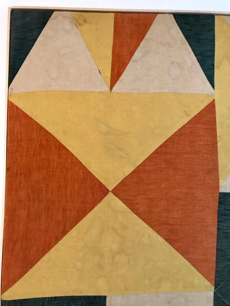 Evelyn Ackerman Hard-Edge Textile Art Tapestry  In Good Condition For Sale In Los Angeles, CA