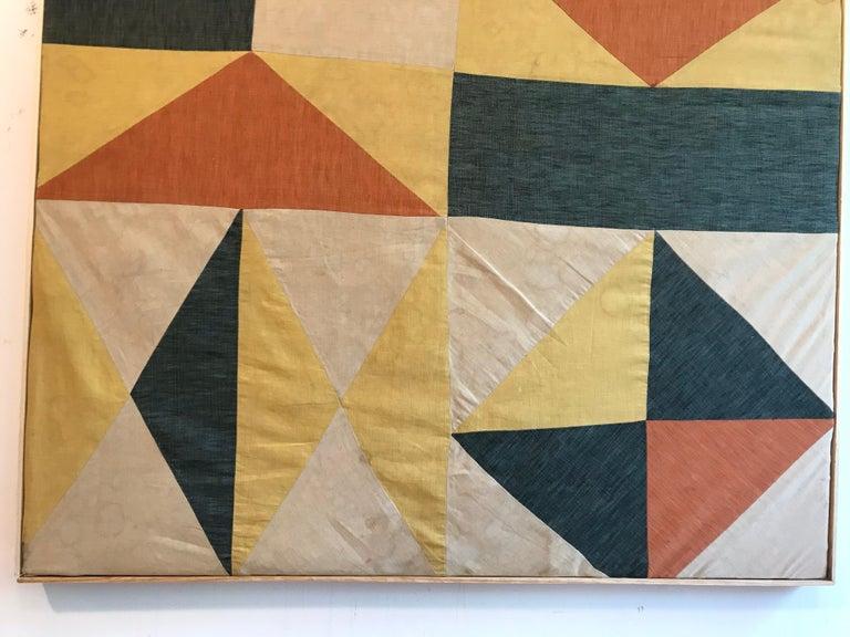 20th Century Evelyn Ackerman Hard-Edge Textile Art Tapestry  For Sale