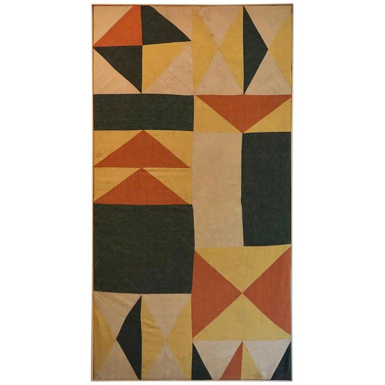 Evelyn Ackerman Hard-Edge Textile Art Tapestry  For Sale