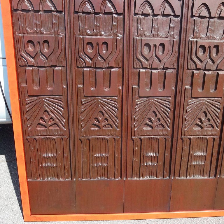 Mid-Century Modern Evelyn Ackerman Panelcarve Wall Sculpture Designed, 1963 For Sale