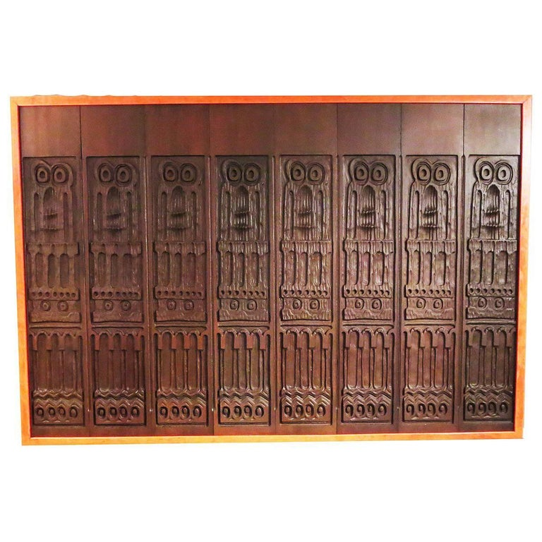 Evelyn Ackerman Panelcarve Wall Sculpture, 1963 For Sale