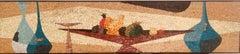 Evelyn Ackerman Style Mosaic of Handcut Glass Tile, 1960, California
