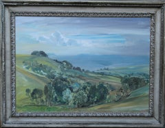 Trow Hill Sidmouth Devon 1927 - British art landscape oil painting female artist