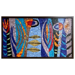 In the Garden Glass Mosaic Tile Wall Panel Hanging