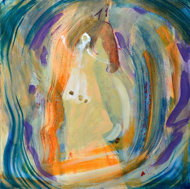 Arbre de Vie - Fauvist Painting by Evelyne Ballestra