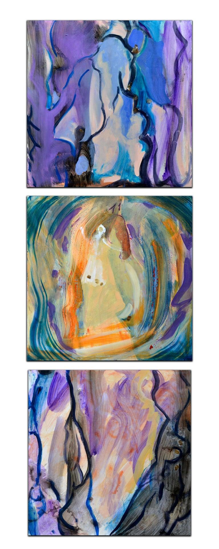 Evelyne Ballestra Abstract Painting - Arbre de Vie