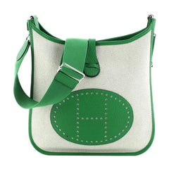 Evelyne Crossbody Gen III Toile and Leather PM