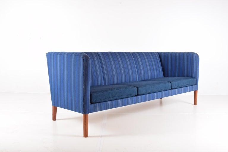 Scandinavian Modern Even Arm Sofa by Hans Wegner For Sale