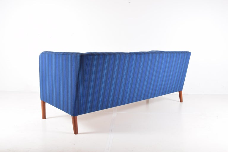Turned Even Arm Sofa by Hans Wegner For Sale