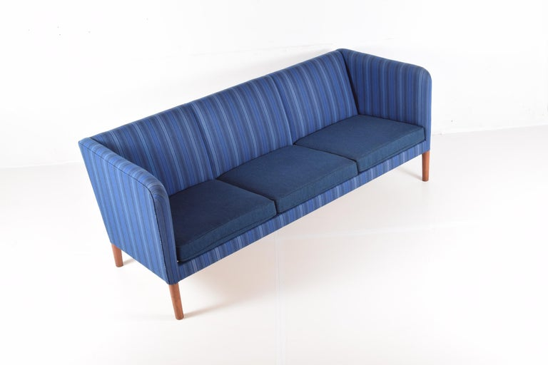 Wool Even Arm Sofa by Hans Wegner For Sale