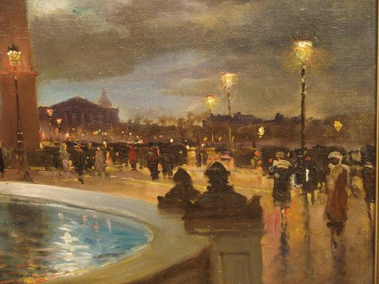 Evening at La Place De La Concorde, Paris by Paul Balmigere, '1882-1953' For Sale 5