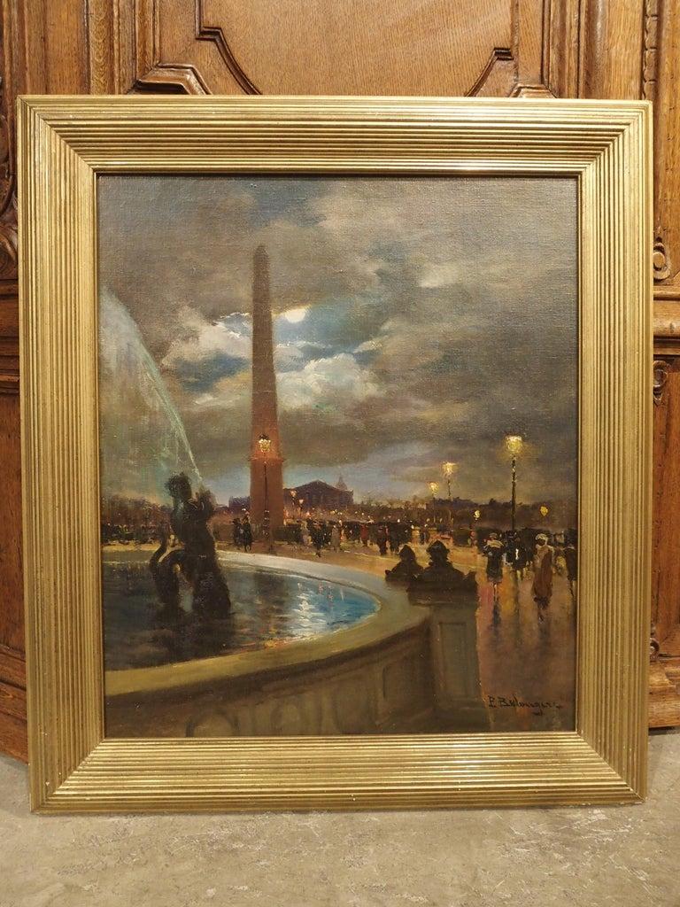 Evening at La Place De La Concorde, Paris by Paul Balmigere, '1882-1953' For Sale 6
