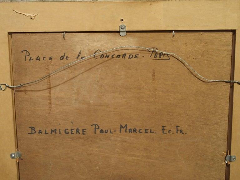 Evening at La Place De La Concorde, Paris by Paul Balmigere, '1882-1953' For Sale 1