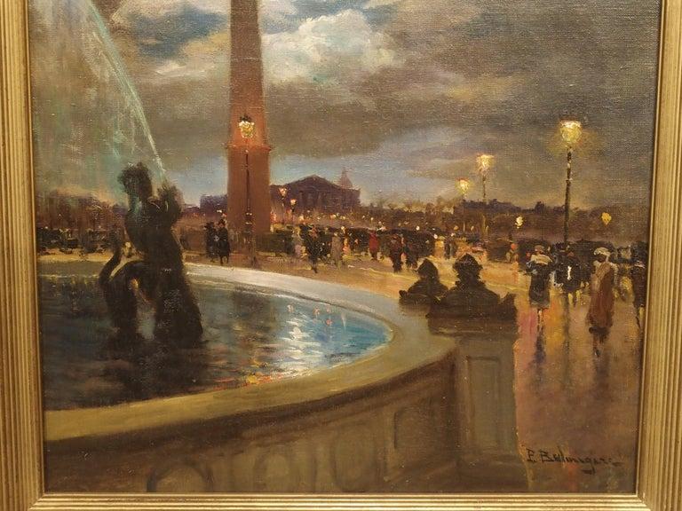 Evening at La Place De La Concorde, Paris by Paul Balmigere, '1882-1953' For Sale 2