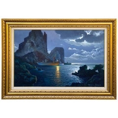 Evening Capri Seascape by Salvatore Federico, Italian, 20th Century