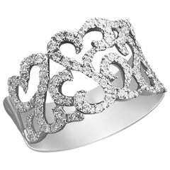 Evening Classic Diamond White Gold Engagement Ring for Her