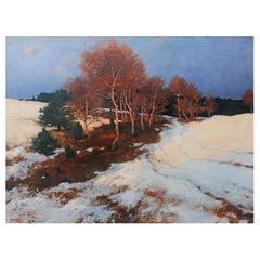"""Evening Glow"" Landscape Oil Painting"