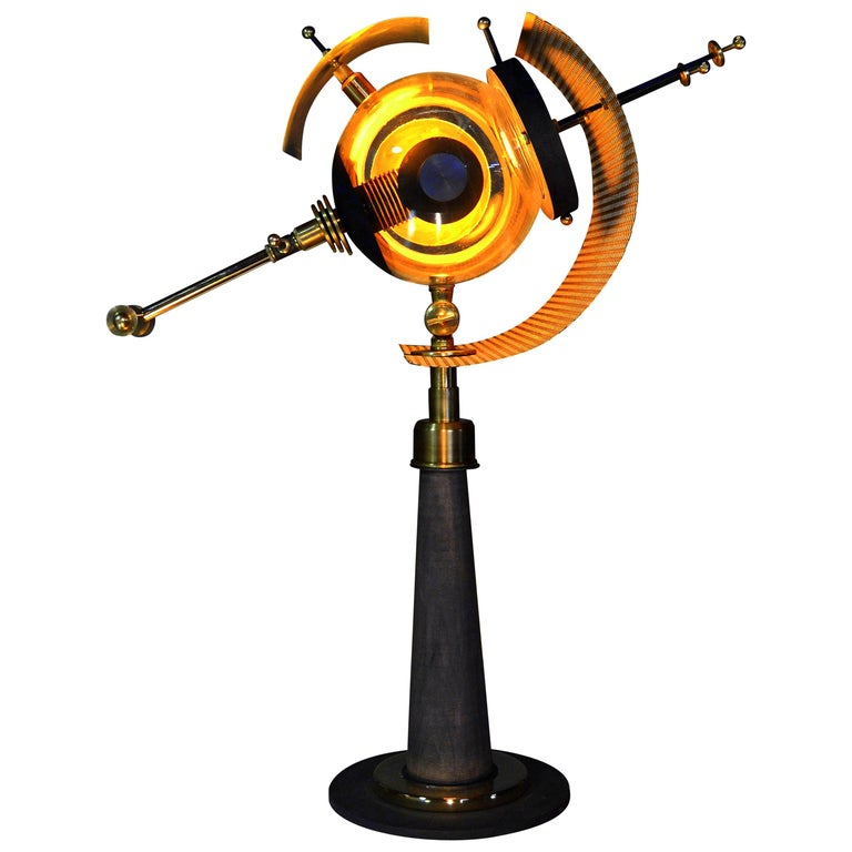 "/ ART DONOVAN / ""Event Horizon"" Black Hole-Illuminated Table Lamp-Sculpture"