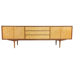 Everest of Long Eaton British Made Long John Teak Sideboard Midcentury